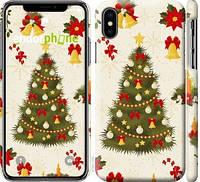 "Чехол на iPhone X Новогодняя елка ""4198c-1050-25097"""