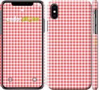 "Чехол на iPhone X Красная клетка ""4439c-1050-25097"""