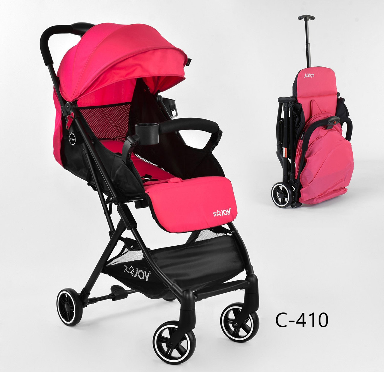 Коляска детская JOY С розовая
