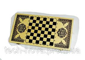 Игра настольная 3 в 1 - нарды + шашки + шахматы (40х40 см, дерево)