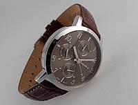 Часы мужские Guardo - Italy, цвет серебро, коричневый кожаный ремешок, коричневый циферблат, фото 1