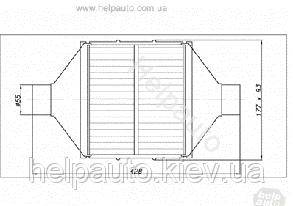 Катализатор плоский металический  ВP 3600    Euro4