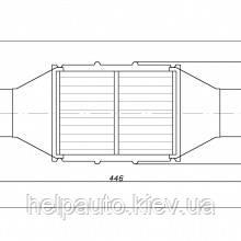 Катализатор круглый металический  В 3600    Euro4