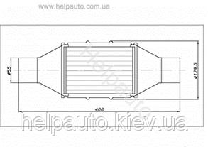 Катализатор круглый металический В 2800   Euro3