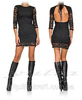 Платье Гипюровой голая спина на завязках