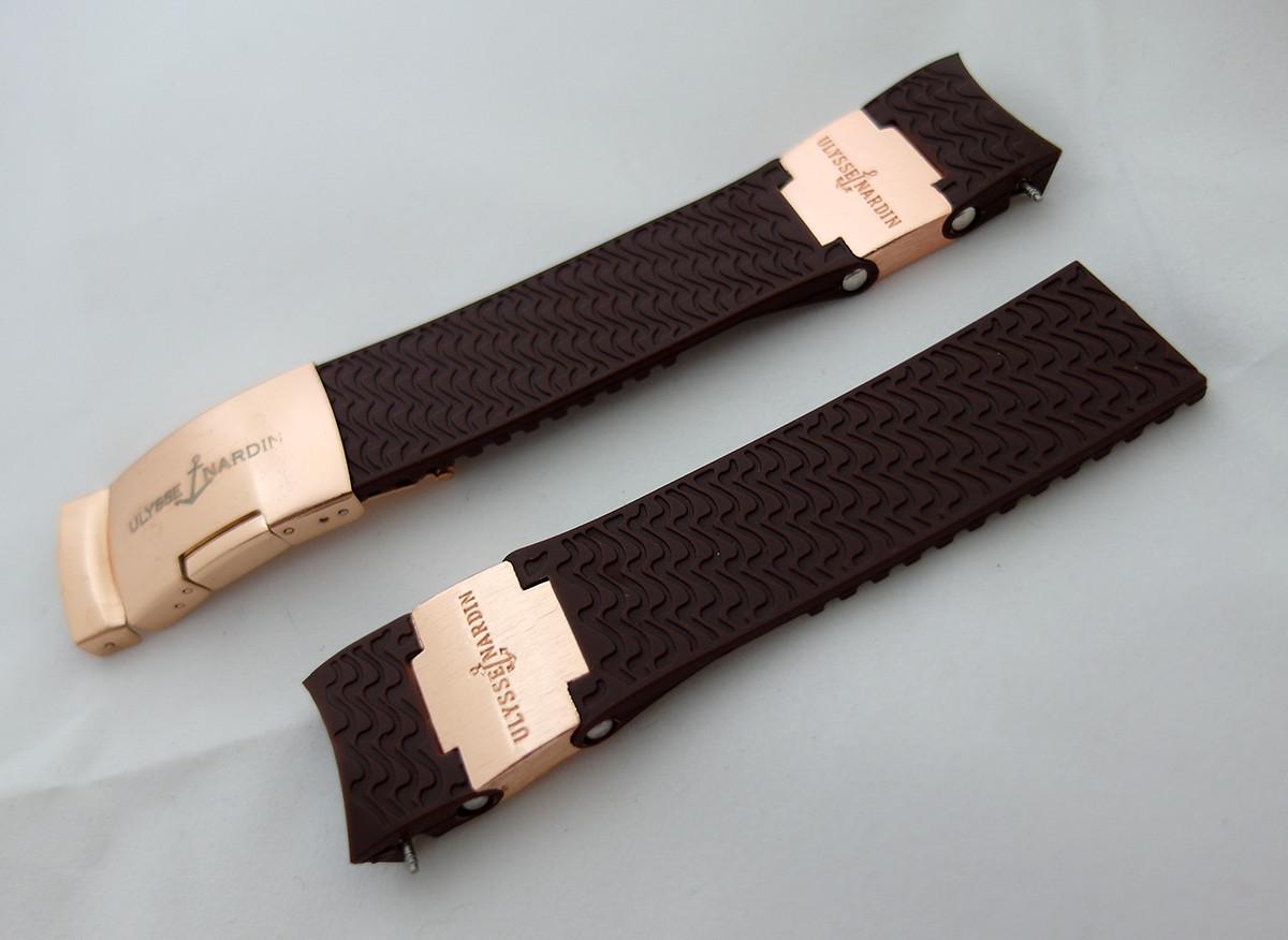 Ремешок к часам Ulysse Nardin коричневый, универсальный комплект