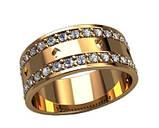 Кольцо  женское серебряное Карты в камнях, фото 2
