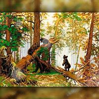 Алмазная мозаика TWD Мишки в лесу 30x40 TWD20033