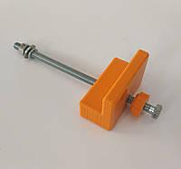 Фиксатор растояния (Г-образный) для кондуктора / шаблона мебельного для вертикального сверления
