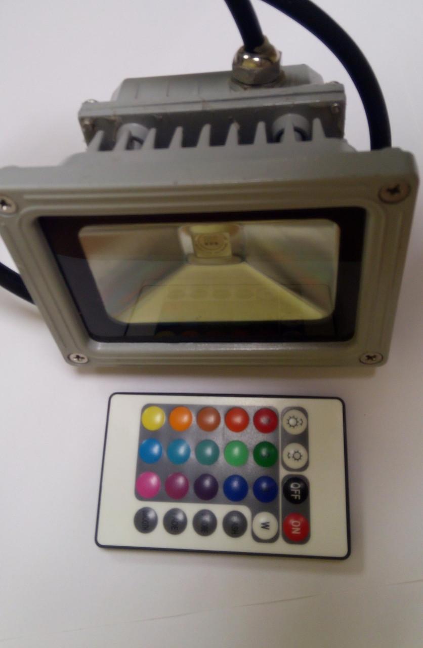 Прожектор Светодиодный 10 Ватт RGB ТМ Ekoled с пультом