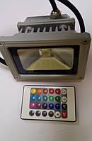 Прожектор Светодиодный 10 Ватт RGB ТМ Ekoled с пультом, фото 1