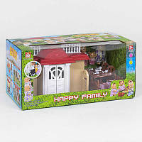 """Домик 012-04 """"Счастливая семья"""" (12) свет, с фигурками, мебель, в коробке"""