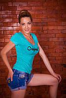 Женская футболка Bono Мята, фото 1