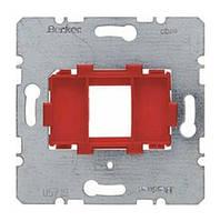 Опорная пластина для модульных разъёмов с красной вставкой 1-но постовая Berker (454001)