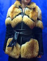 Женская  куртка с мехом лисы , фото 1