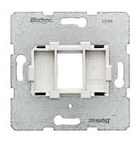 Опорная пластина для модульных разъёмов с белой вставкой 1-но постовая Berker (454002)