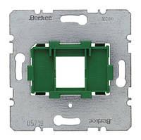 Опорная пластина для модульных разъёмов с зелёной вставкой 1-но постовая Berker (454004)