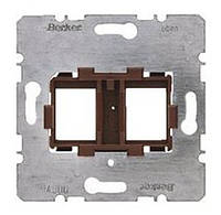 Опорная пластина для модульных разъёмов с коричневой вставкой 2-х постовая Berker (454107)