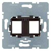 Опорная пластина для модульных разъёмов с чёрной вставкой 2-х постовая Berker (454202)