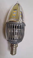 Сверхяркая Светодиодная лампа Е14 4W 360 градусов