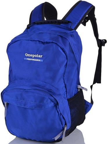 Компактный городской рюкзак 20 литров Onepolar W1565-navy синий