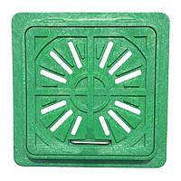 Люк-мини пластмассовый квадратный решетка 300х300