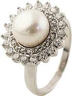 Серебряное кольцо SilverBreeze Серебряное кольцо SilverBreeze с натуральным жемчугом (0284613) 19 размер SKU_0284613-19