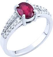 Серебряное кольцо SilverBreeze Серебряное кольцо SilverBreeze с натуральным рубином (0573694) 16.5 размер SKU_0573694-16.5
