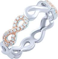 Серебряное кольцо SilverBreeze Серебряное кольцо SilverBreeze с фианитами (1824405) 16.5 размер SKU_1824405-16.5