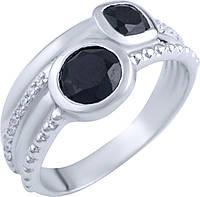 Серебряное кольцо SilverBreeze Серебряное кольцо SilverBreeze с натуральным ониксом (1893043) 18.5 размер SKU_1893043-18.5