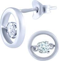 Серебряные серьги SilverBreeze Серебряные серьги SilverBreeze с фианитами (0415932) SKU_0415932