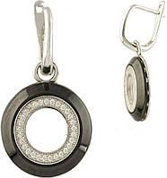 Серебряные серьги SilverBreeze Серебряные серьги SilverBreeze с керамикой (1279229) SKU_1279229