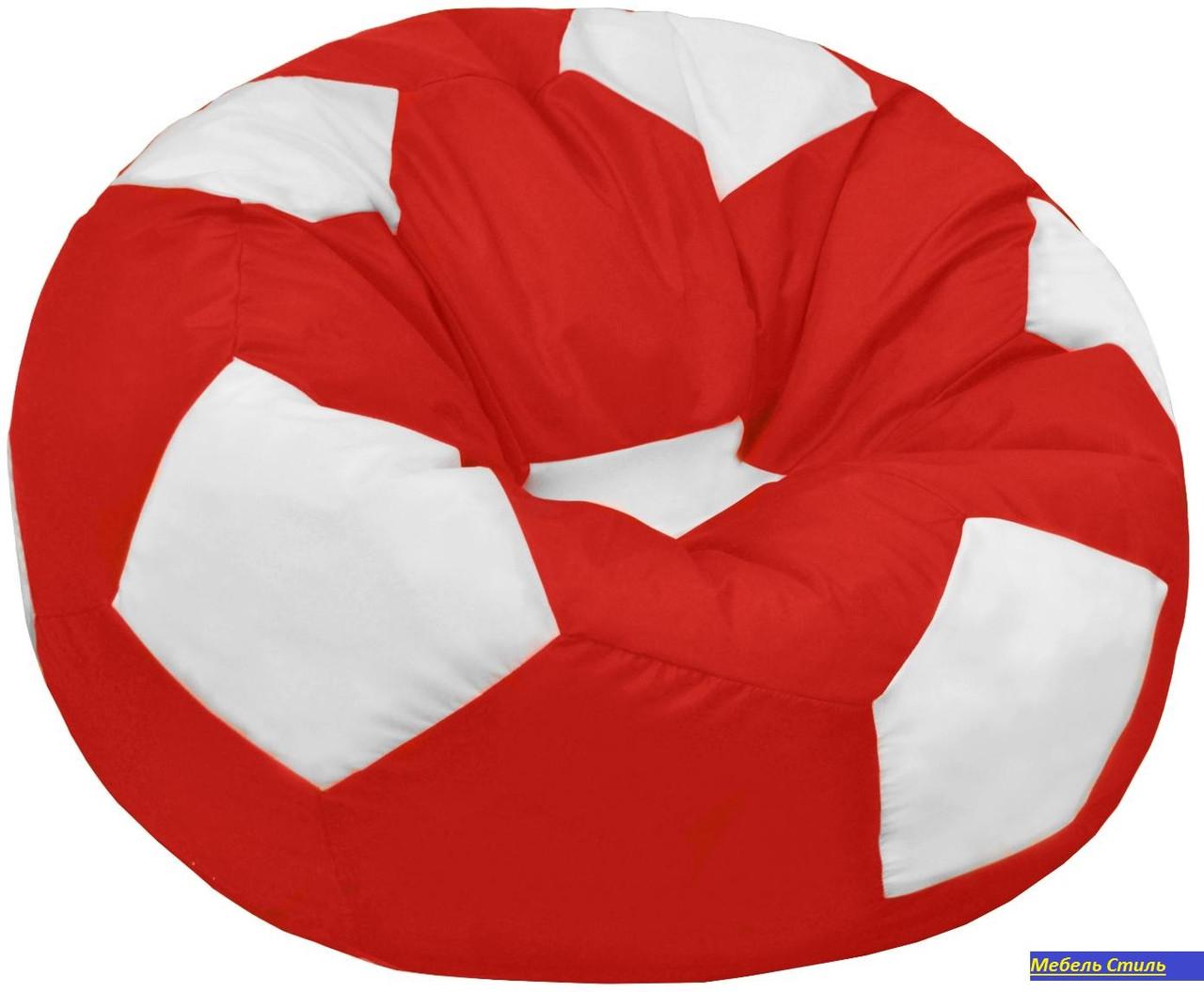 Пуф-мешок Мяч БМО6 красно-белый 110Х110см.