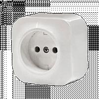Розетка 2К без шторок белый Legrand Quteo (782210)