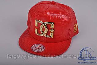 Бейсболка ХИП-ХОП женская из кожезаменителя (цв.красный) DG