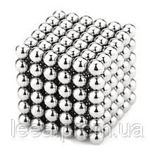 🔝 Магнитный конструктор, неокуб, 216шт*5мм магнитные шарики, neocube, цвет - металлик