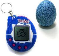 Тамагочи smart Игрушка электронный питомец Тамагочи в Яйце Динозавра Eggshell Game Blue SKU_508194