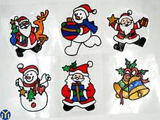Новогодние наклейки, трафареты и снежинки на окна