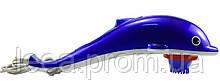 🔝 Массажер Дельфин, антицеллюлитный массаж, массажер для спины, с насадками!Синий 39 см.   🎁%🚚