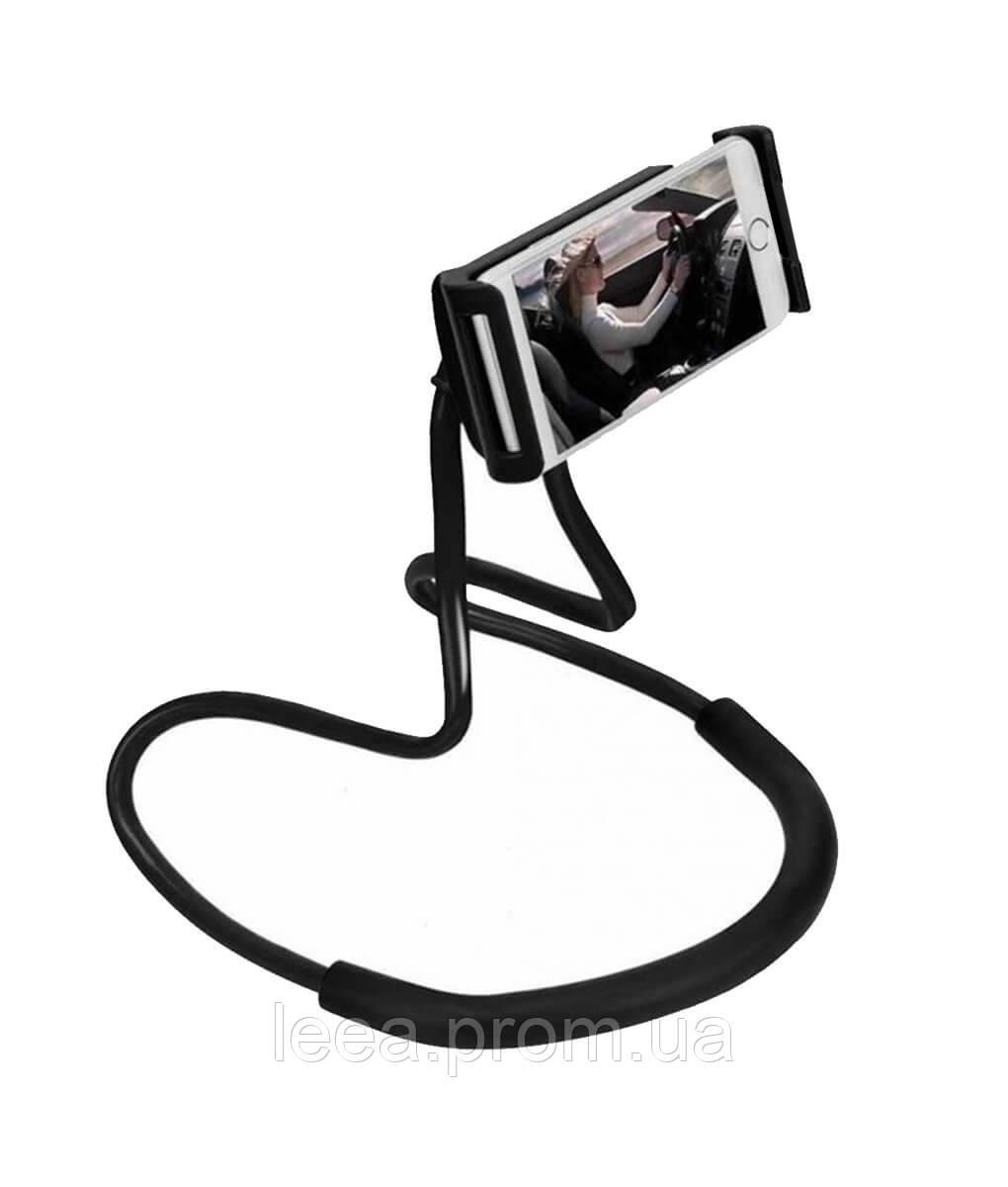 Гнучкий тримач для смартфона універсальний (на шию), Holder Waist Чорний, підставка для телефону | - фото 1