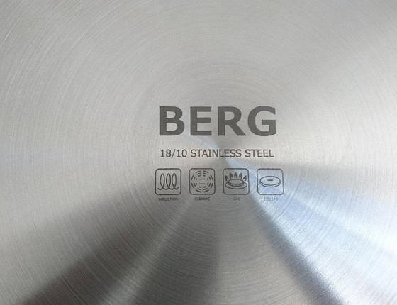 Кастрюля индукционная глубокая 16л 28х26см Berg, фото 2
