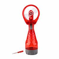 🔝 Ручной вентилятор, Water Spray Fan, с пульверизатором, цвет - красный