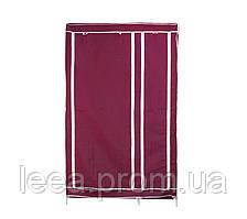 🔝 Шкаф-органайзер для одежды на 2 секции - бордовый
