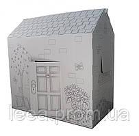🔝 Раскраска домик, 94х100х56 см. Дерево и цветы, это, картонный домик, для детей