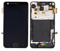 Samsung Galaxy 2 i9100 black LCD, модуль, дисплей с сенсорным экраном с рамкой в сборе