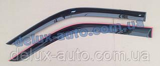 Ветровики Cobra Tuning длинные на авто DAF XF95/105 Дефлекторы окон Кобра ДЛИННЫЙ для Даф ХФ95 105