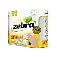 """Трехслойные бумажные полотенца """"Zebra Daily"""" 2 шт."""