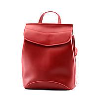Сумка-рюкзак жіноча червона із екошкіри / Сумка-рюкзак женская красная из экокожи