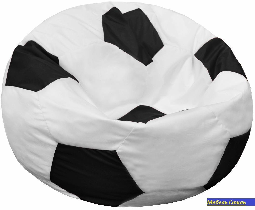 Пуф-мешок Мяч БМО6  бело-черный 110х110 см.
