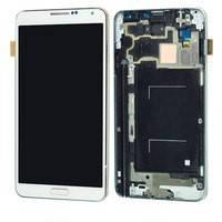 Samsung Galaxy Note III 3G  N900 white LCD, модуль, дисплей с сенсорным экраном с рамкой в сборе